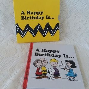 A Happy Birthday Is... Charlie Brown Gift Book